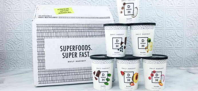 Daily Harvest Smoothies Subscription Review + Coupon – June 2018
