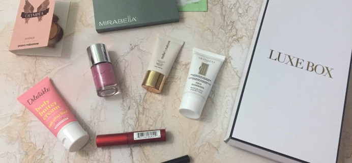Luxe Box Summer 2018 Subscription Box Review
