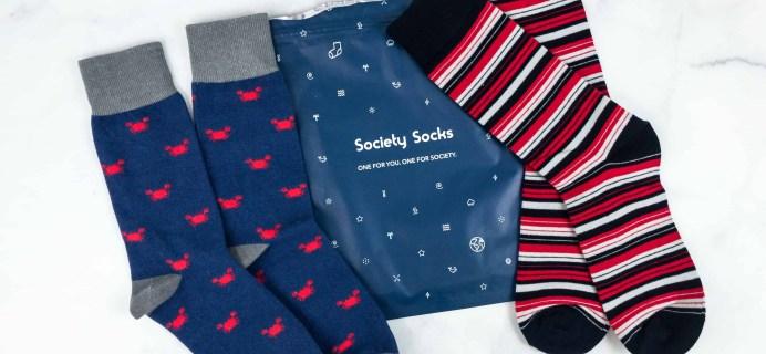 Society Socks June 2018 Subscription Box Review + 50% Off Coupon