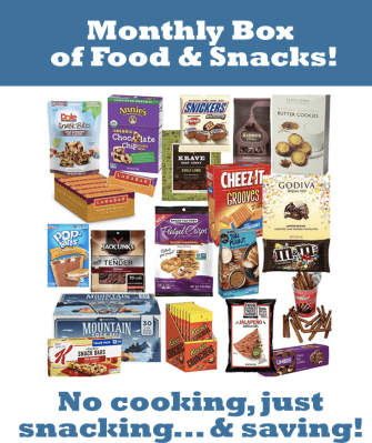 Monthly Box of Food & Snacks $5 Off Coupon!