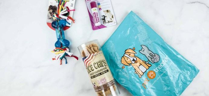 Pet Treater Dog Box Mini June 2018 Subscription Box Review + 50% Off Coupon!