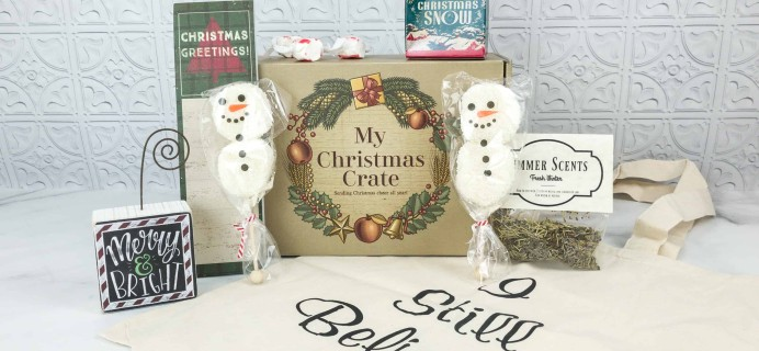 My Christmas Crate June 2018 Subscription Box Review + Coupon