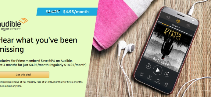 Audible Amazon 2019 Prime Day Deal: $4.95 a Month for 3 Months & More!