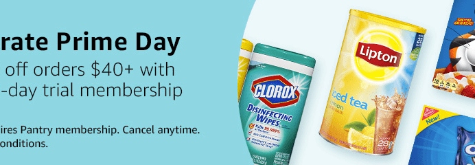 Amazon Prime Pantry Prime Day Deal: Get $10 Off $40+ Orders!