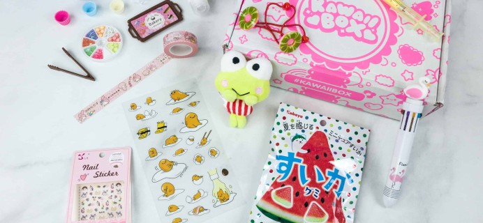 Kawaii Box July 2018 Subscription Box Review & Coupon