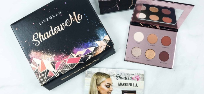 LiveGlam ShadowMe July 2018 Subscription Box Review + FREE Lipstick Coupon!