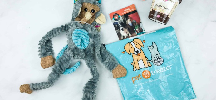 Pet Treater Dog Box Mini July 2018 Subscription Box Review + 50% Off Coupon!