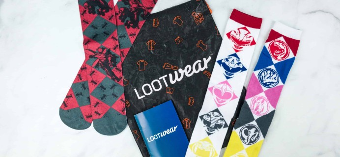 Loot Socks by Loot Crate July 2018 Subscription Box Review & Coupon