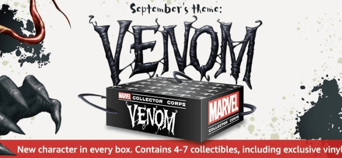 Marvel Collector Corps September 2018 VENOM Box Available For One Time Purchase WORLDWIDE!
