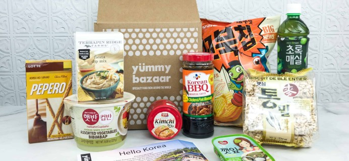 July 2018 Yummy Bazaar Full Experience Subscription Box Review