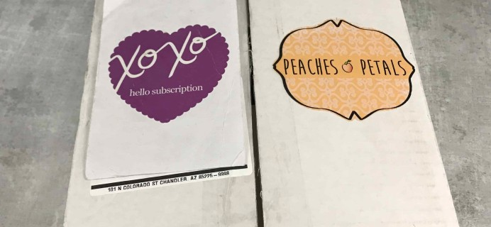 Peaches and Petals June 2018 Subscription Box Review & Coupon