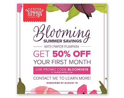 Stampin' Up Paper Pumpkin Deal: Get 50% Off Your First Month!