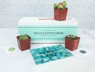 Succulents Box August 2018 Subscription Box Review + Coupon