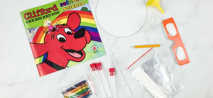 Clifford Science Club Subscription Box Review + Coupon – Rainbow Science Box