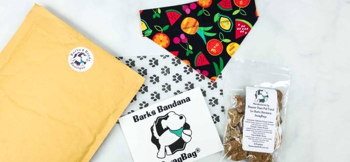 Bark Bandanas SwagBag Subscription Box Review & Coupon – August 2018