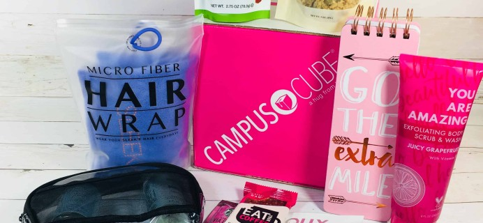 CampusCube College Care Package September 2018 Girls Cube Review + Coupon!