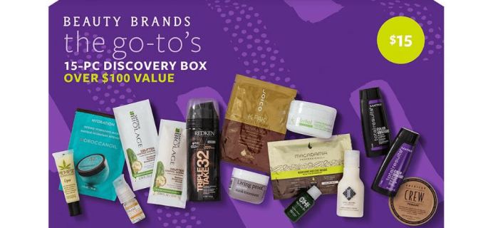 Beauty Brands The Go To 15 Piece Discovery Box Available Now!