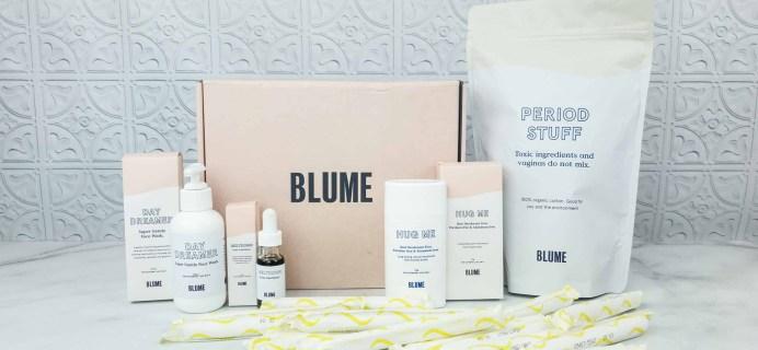 Blume Period Care Subscription Box + Self-Care Bundle Review