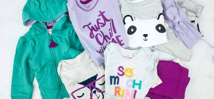 Target's Cat & Jack Baby Outfit Box Girls Subscription Box Review – August 2018