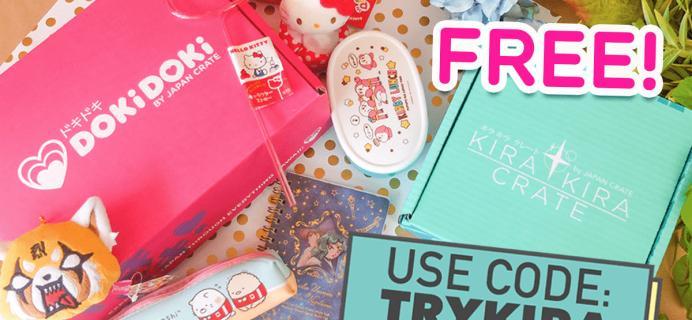 New Doki Doki Crate Coupon: Get a FREE Kira Kira Crate Sampler Box!