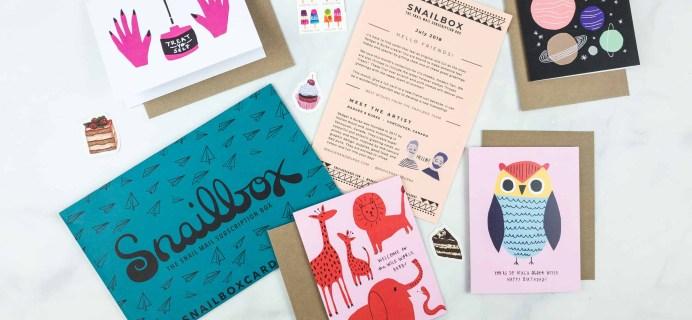 Snailbox July 2018 Subscription Box Review