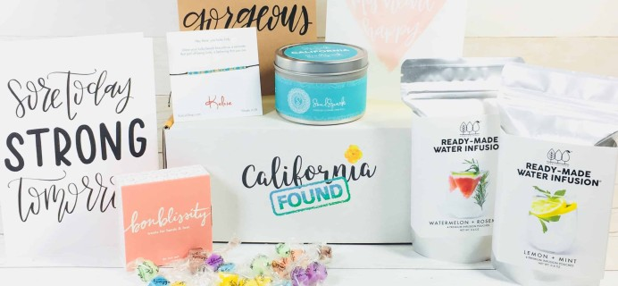 California Found August 2018 Subscription Box Review + Coupon