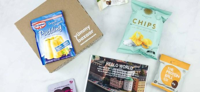 August 2018 Yummy Bazaar Subscription Box Review – Mini Box