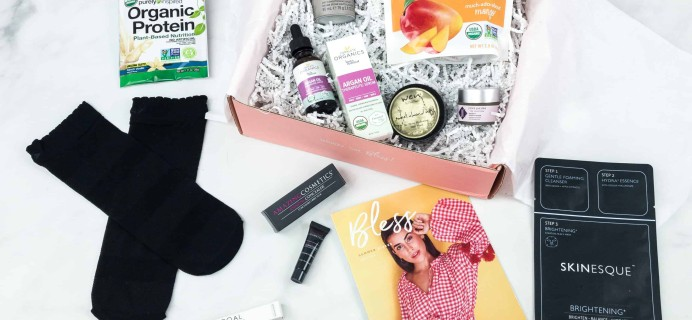Bless Box August 2018 Subscription Box Review & Coupon