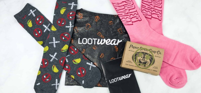 Loot Socks by Loot Crate August 2018 Subscription Box Review & Coupon