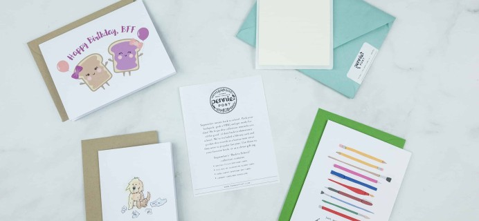 Pennie Post Stationery September 2018 Subscription Review