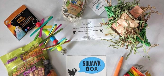 Squawk Box Subscription Review – August 2018