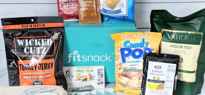 FitSnack August 2018 Subscription Box Review & Coupon