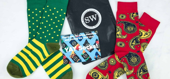 Sock Wagger Sock Club September 2018 Subscription Box Review + Coupon