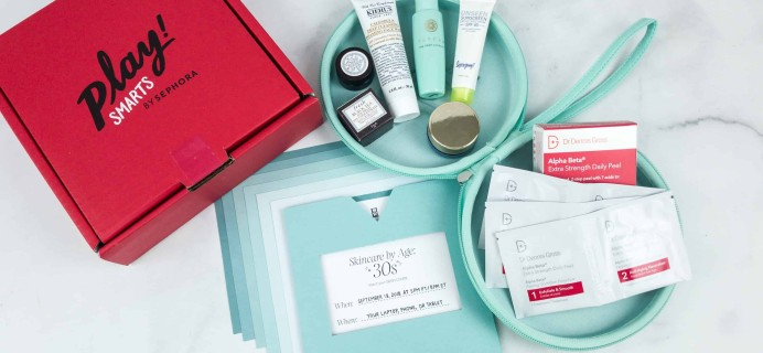 PLAY! by Sephora PLAY! SMARTS – Skincare By Age 30 September 2018 Limited Edition Box Review