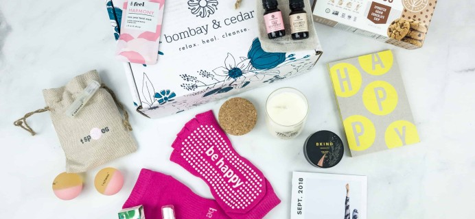 Bombay & Cedar September 2018 Subscription Box Review + Coupon