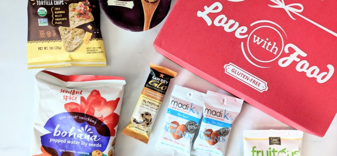 Love With Food Gluten-Free September 2018 Subscription Box Review + Coupon