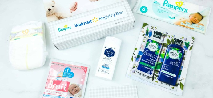 FREE Walmart Baby Registry Welcome Box Fall 2018 Subscription Box Review