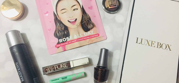 Luxe Box Fall 2018 Subscription Box Review