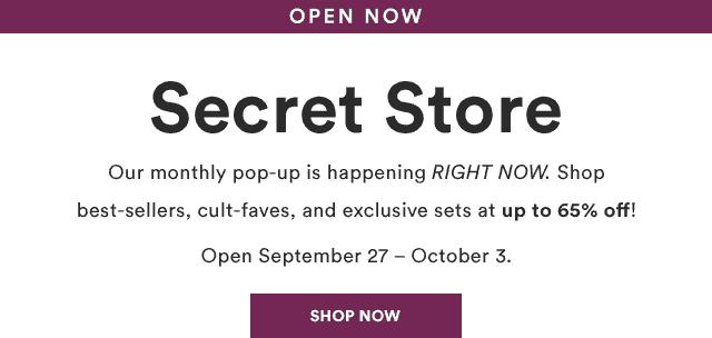Julep October 2018 Secret Store Open!