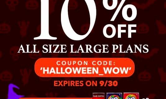WowBox Halloween Sale: Get 10% Off Large Plans + FREE Bonus Items!