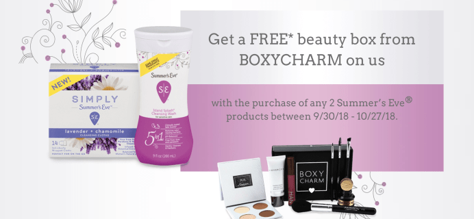 BOXYCHARM Deal: Get a FREE Box for Less than $4 with Summer's Eve Purchase!