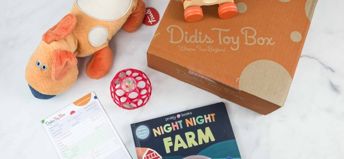 Didis Toy Box October 2018 Subscription Box Review & Coupon