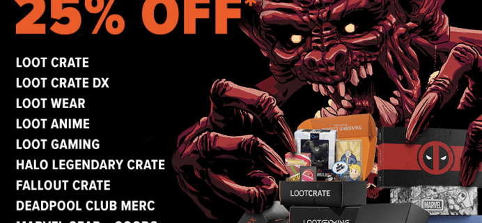 Loot Crate Coupon: Get 25% Off Select Crate Subscriptions! LAST DAY!