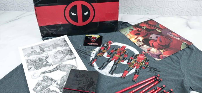 Deadpool Club Merc Fall 2018 Subscription Box Review + Coupon – STAY SHARP!