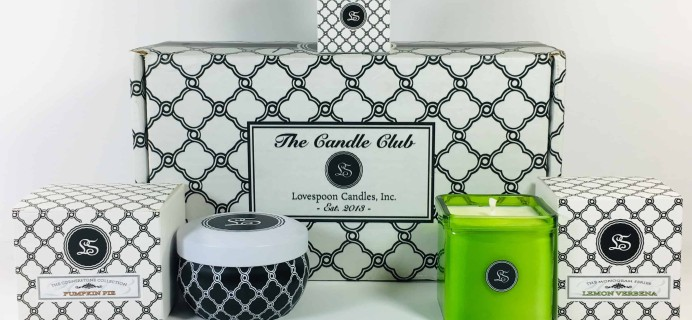 Lovespoon Candles October 2018 Subscription Box Review + Coupon