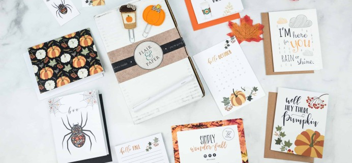 Flair and Paper October 2018 Subscription Box Review & Coupon