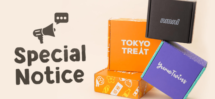 TokyoTreat + YumeTwins + nmnl October 2018 Shipping Update!
