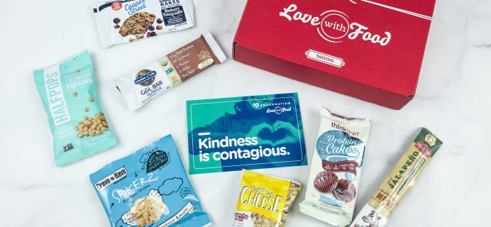 Love With Food October 2018 Tasting Box Review + Coupon!