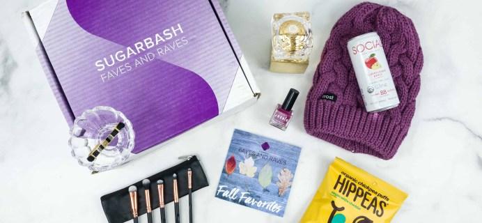 Sugarbash Fall 2018 Subscription Box Review