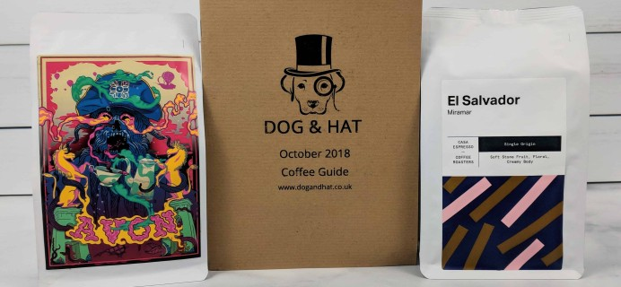 Dog & Hat Coffee Subscription Box Review – October 2018